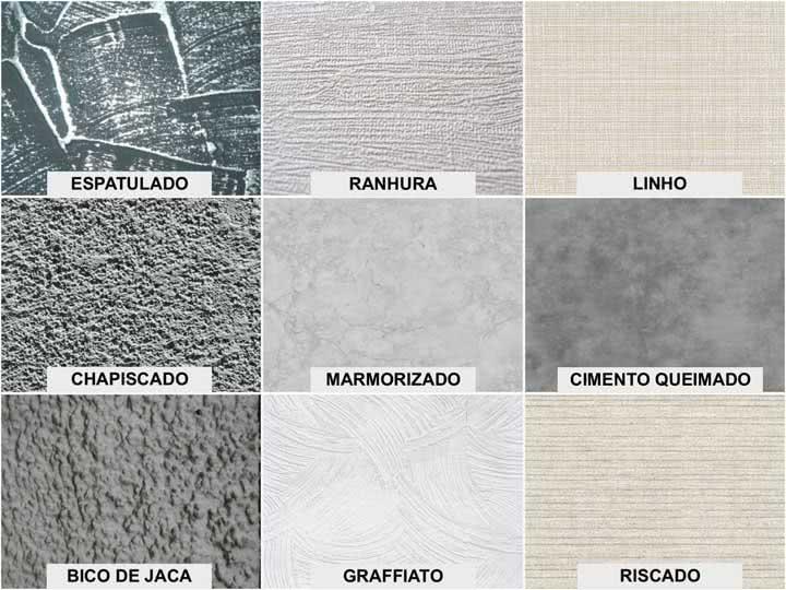 Tipos de textura de parede