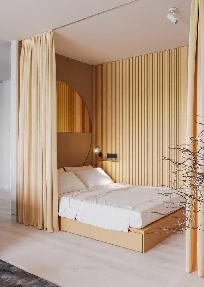 Já o amarelo suave é perfeito para quartos