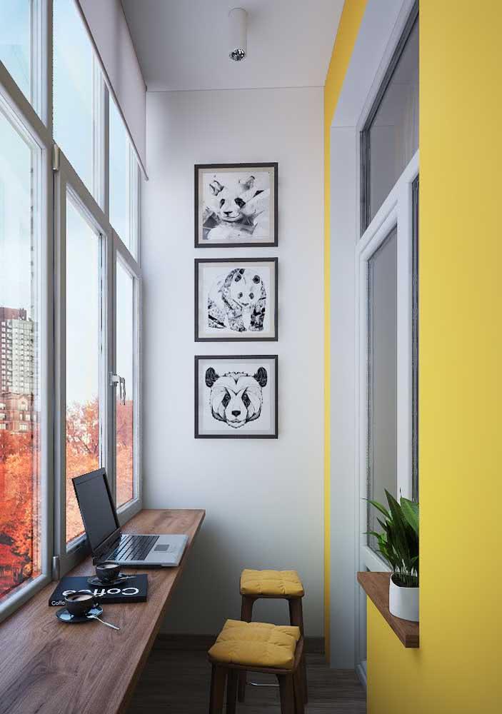 Amarelo para concentrar e inspirar o home office