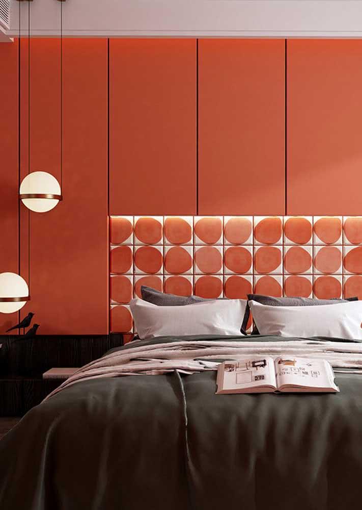 Vermelho no quarto para expressar paixão