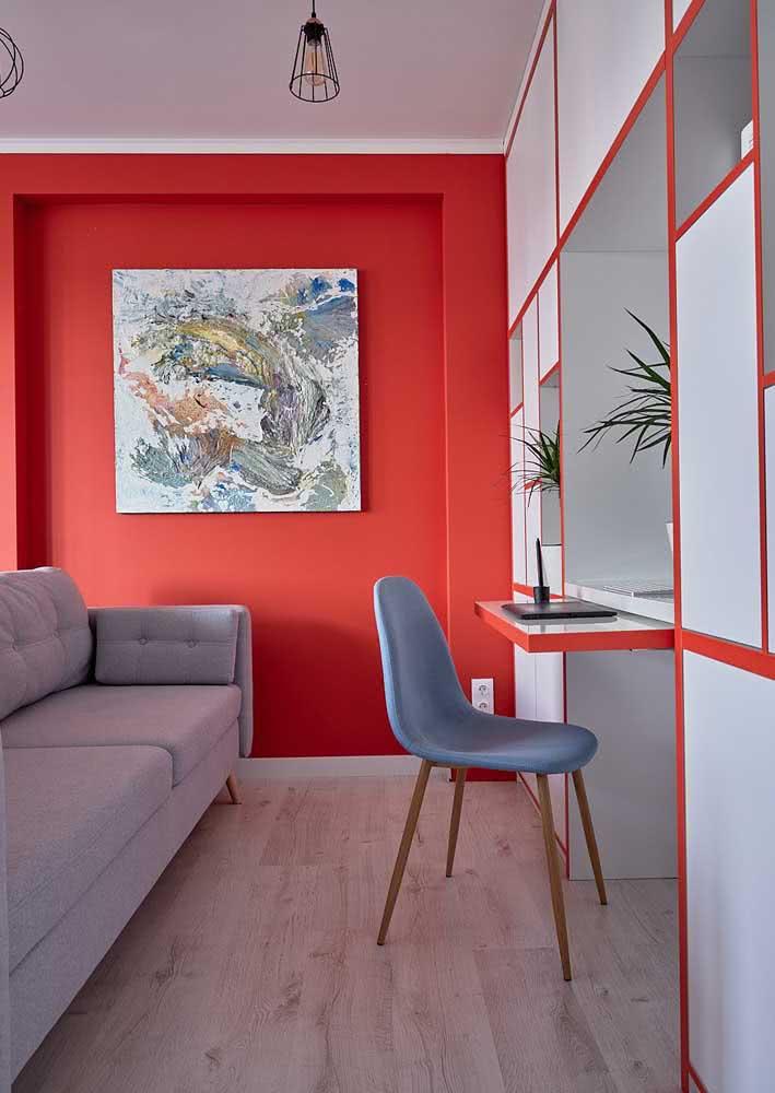 Vermelho e cinza expressa modernidade