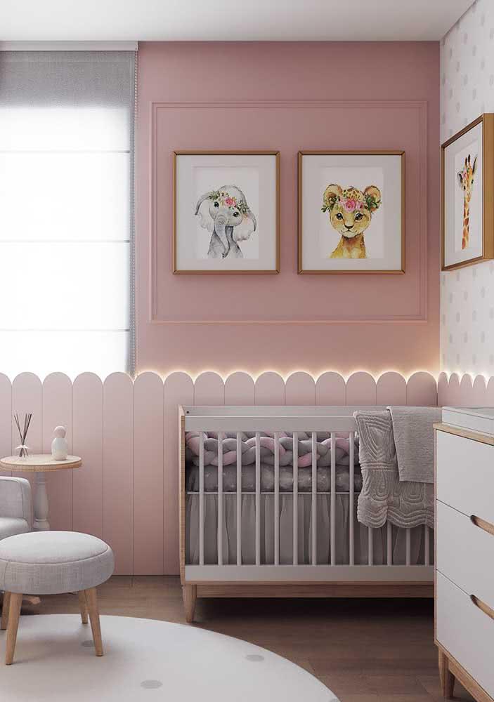 Cor de rosa no quarto de bebê: um clássico