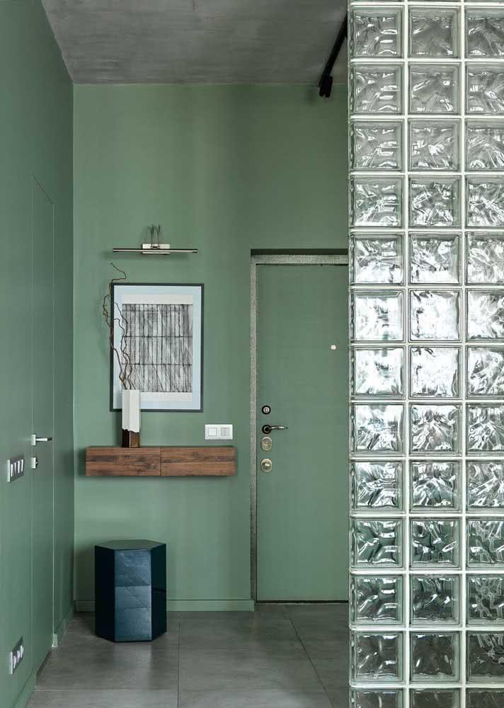 Banheiro verde e cinza: equilíbrio e harmonia