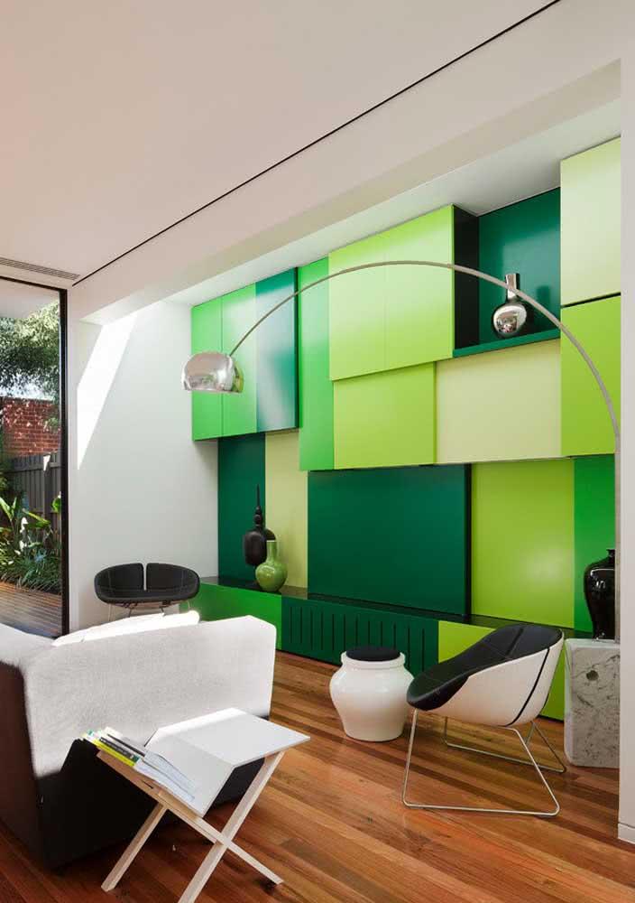 Os tons cítricos de verde trazem frescor aos ambientes