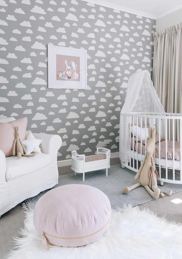 Cinza e rosa: escolha perfeita para o quartinho infantil