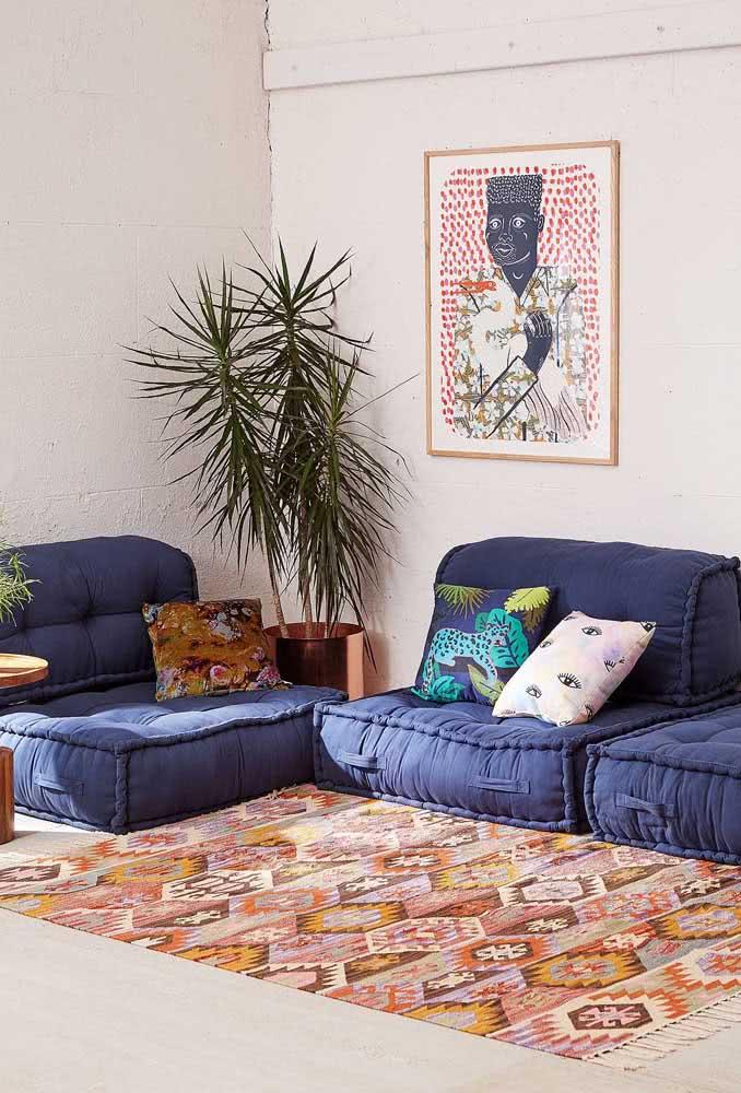 Trio de sofás cama sem braço