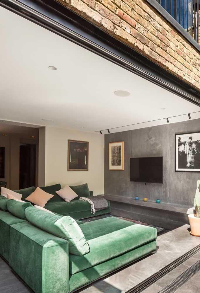 Quanto maior a sala, maior pode ser o seu sofá sem braço