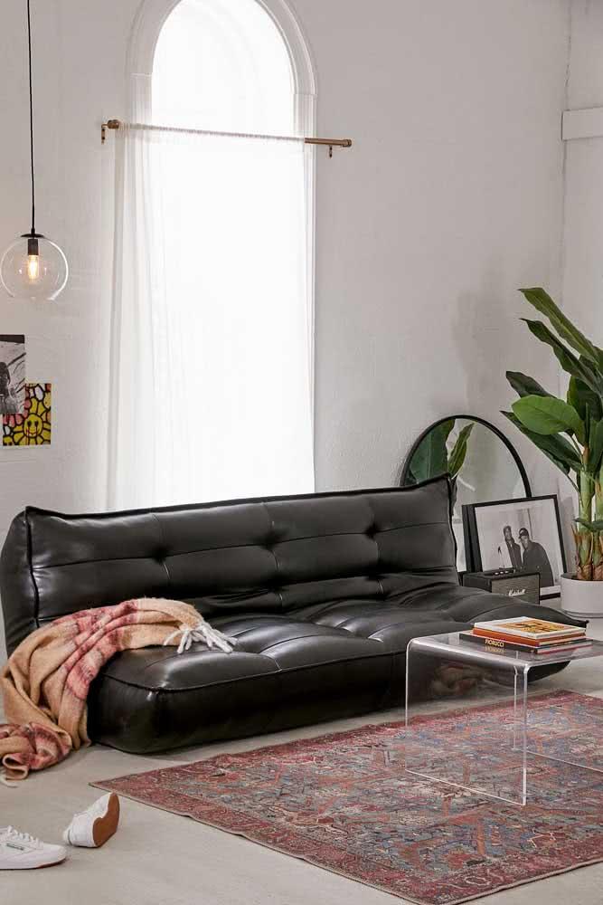 Sofá sem braço 3 lugares em estilo futton