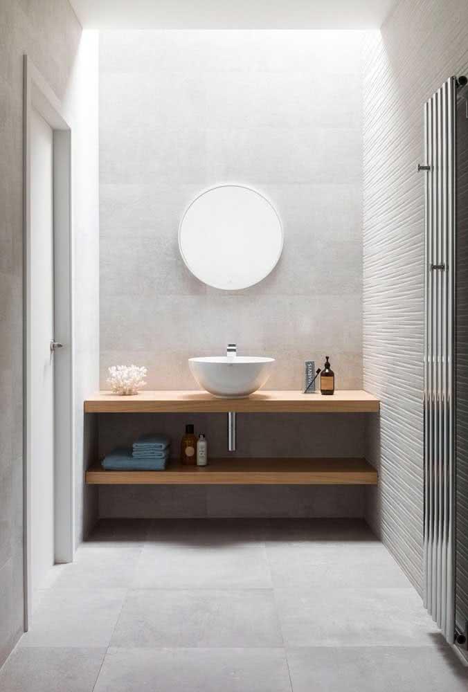 Porcelanato retificado branco para o banheiro: clássico dos clássicos