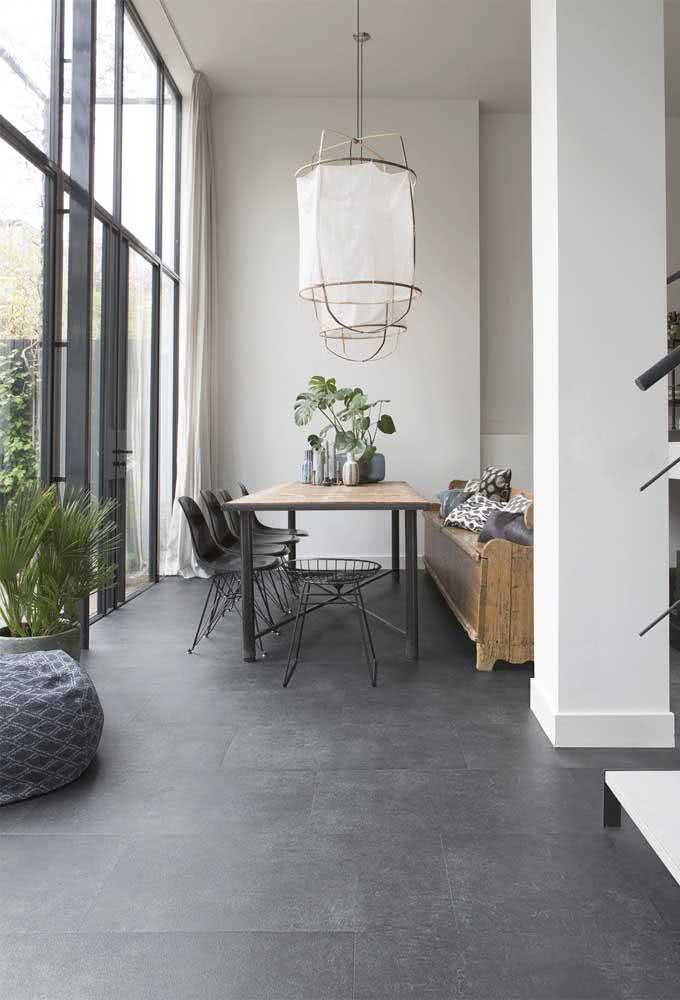 Quanto mais parecida a cor do rejunte com a cor do piso maior é o efeito de uniformidade