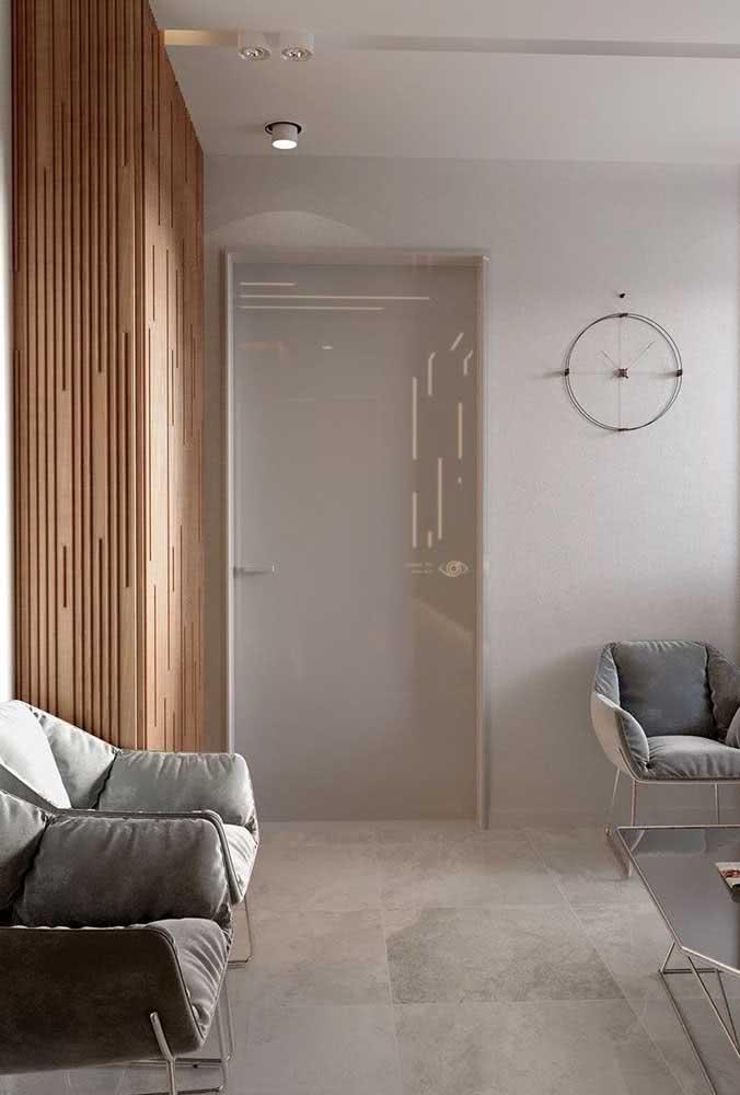 Porcelanato retificado polido com efeito marmorizado para a sala de estar