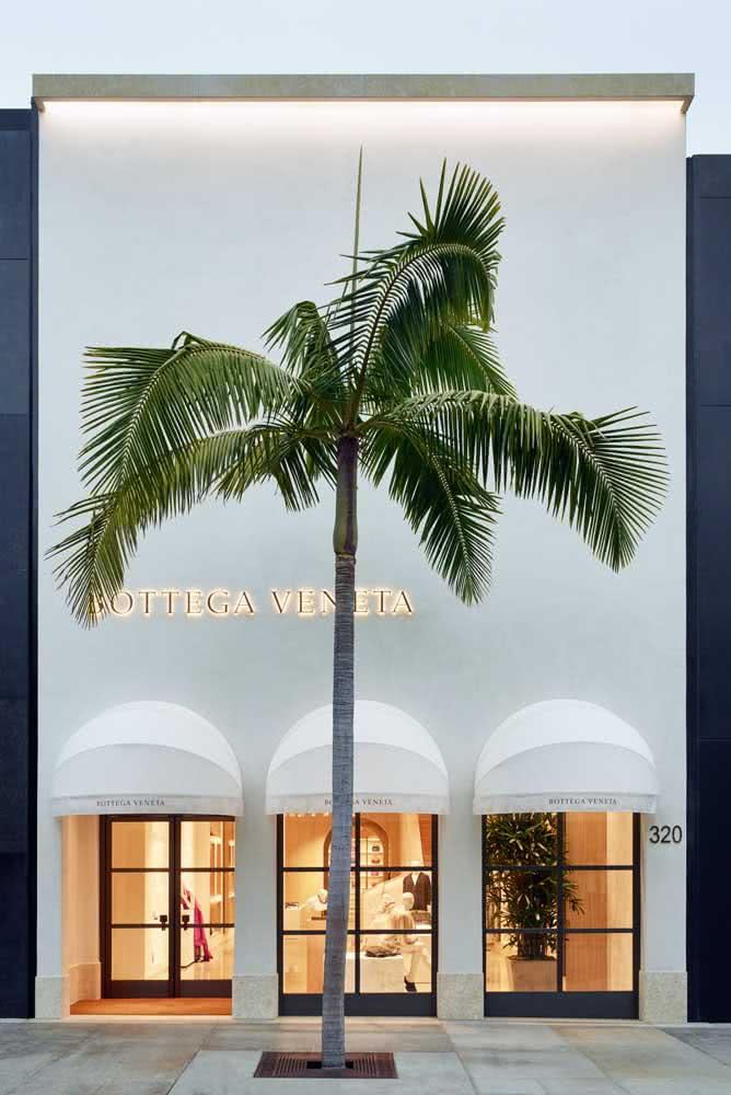Uma fachada clean, moderna e elegante