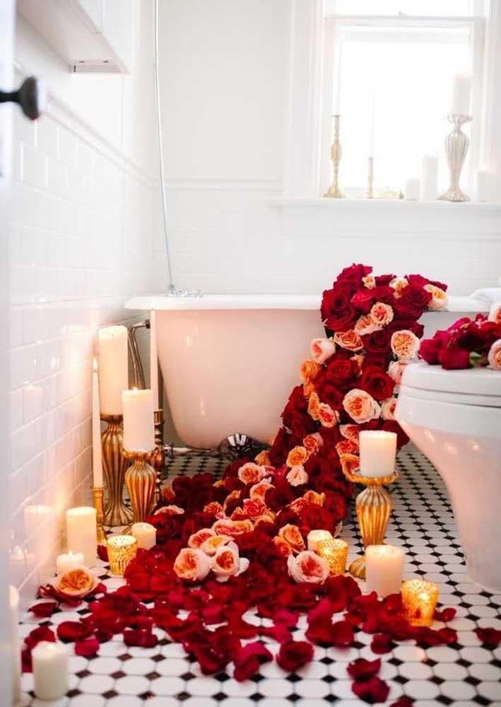 Um banho romântico também vai bem