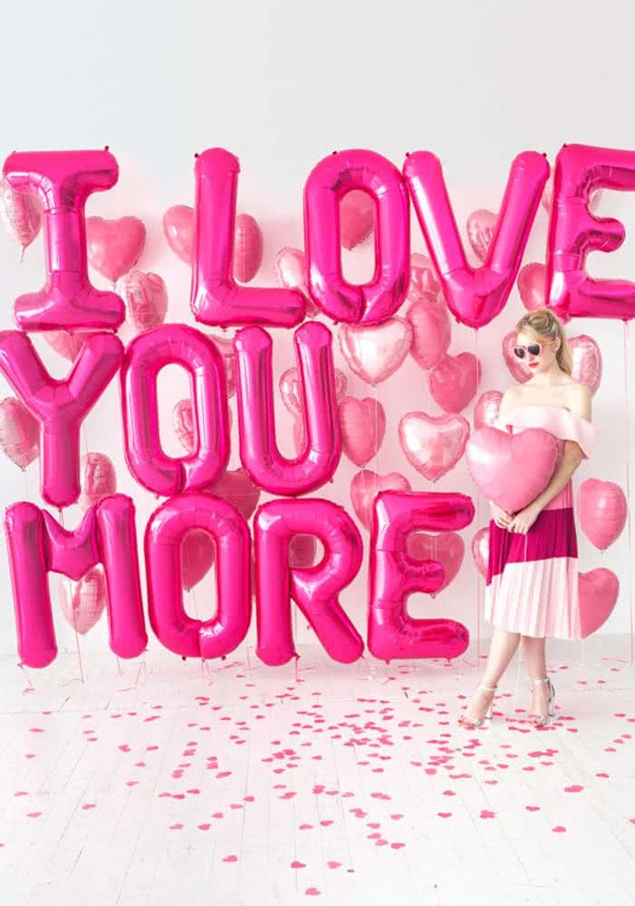 Balões para declarar o seu amor de um jeito muito fofo
