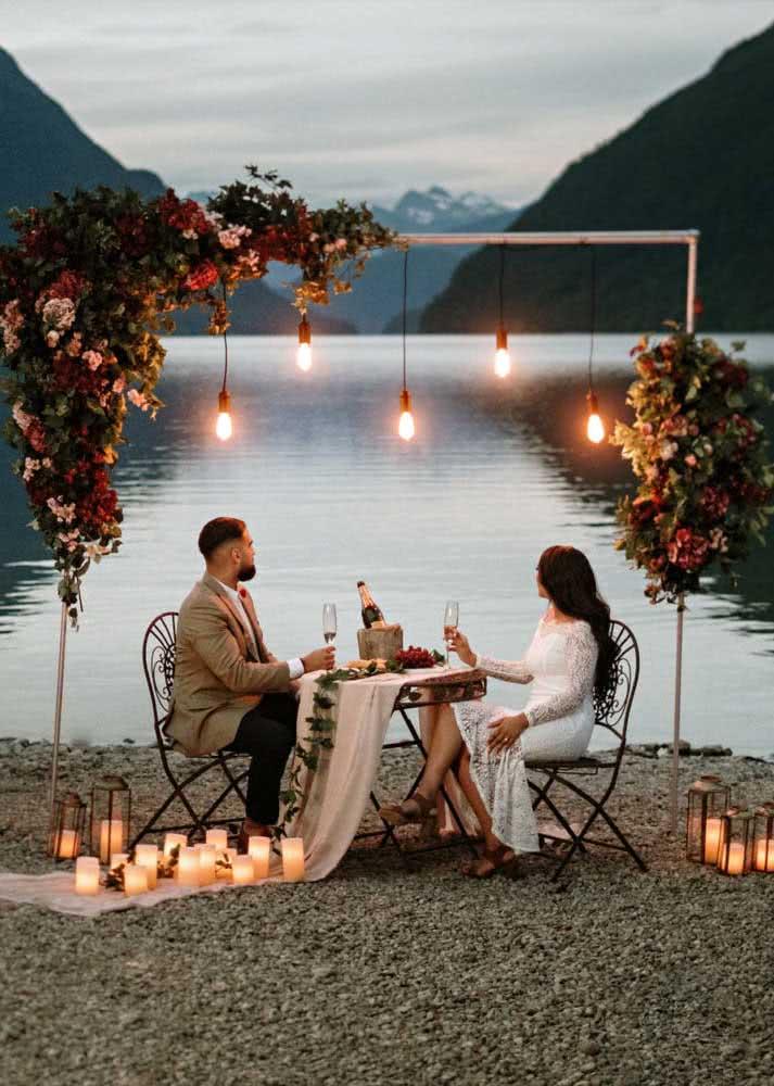 Jantar do dia dos namorados ao ar livre: escolha a melhor paisagem