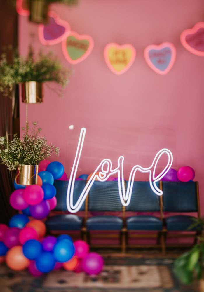 Um letreiro para expressar o seu amor