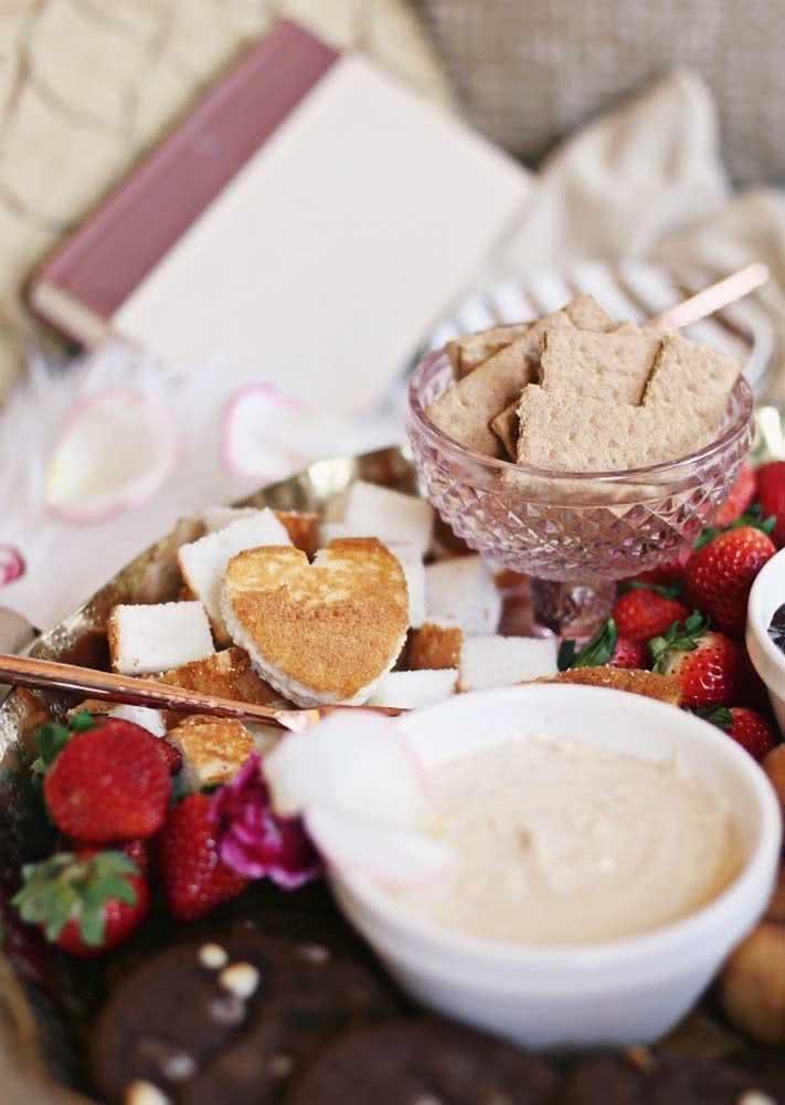 Fica ainda melhor com pão em formato de coração