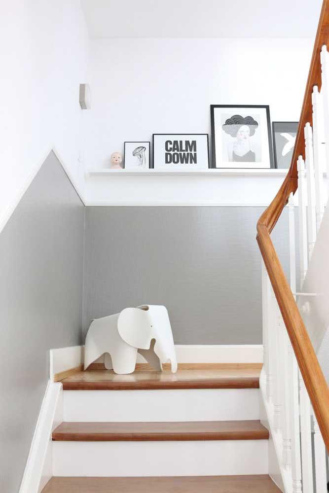Ou se preferir, pode deixá-la subir pela escada!