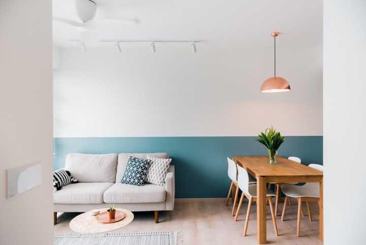 Meia parede pintada: como fazer, dicas e fotos perfeitas para se inspirar