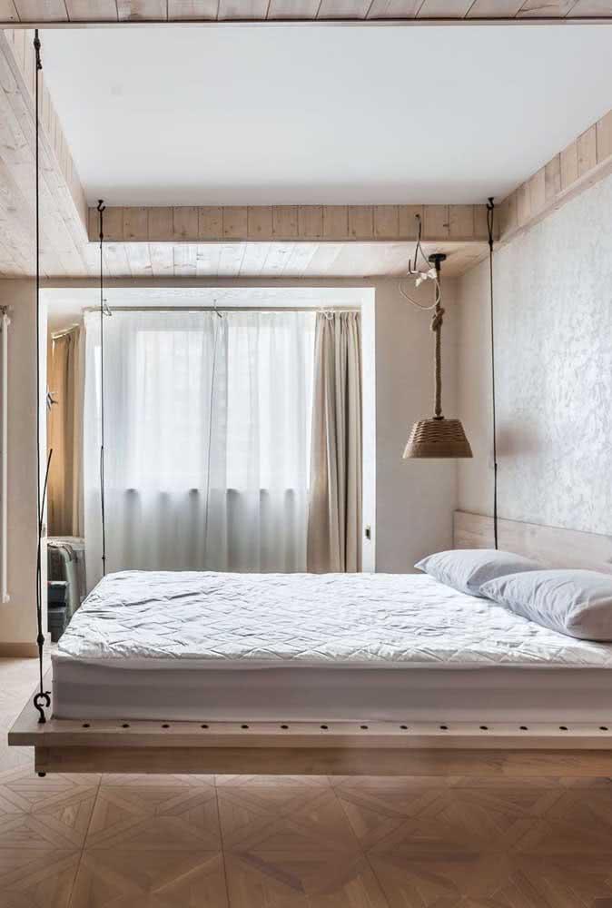E ou não é incrível o efeito da cama flutuante?