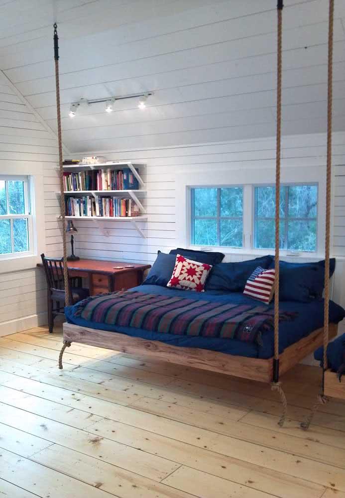 Que tal um sofá cama flutuante?