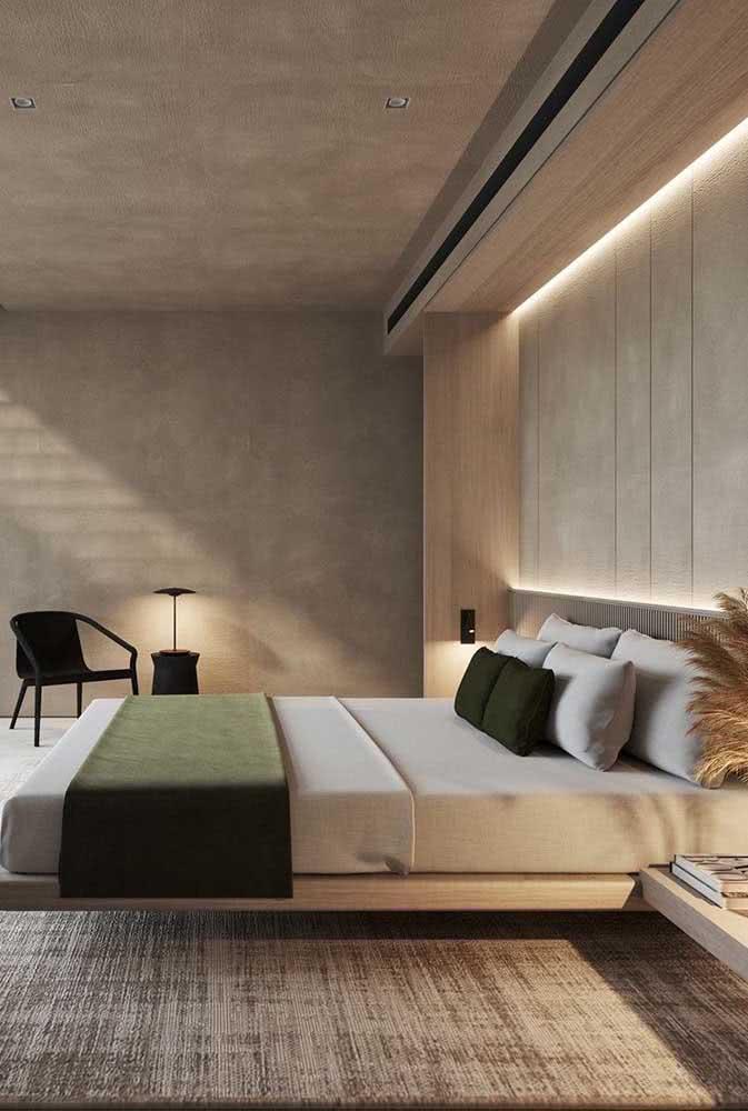 A cama flutuante também é perfeita para quem ama decorações em estilo clean e minimalista