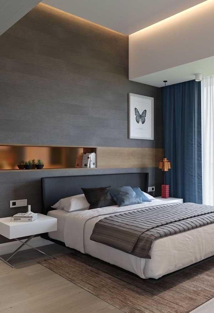 Não se esqueça do tapete para deixar o quarto com cama flutuante mais aconchegante