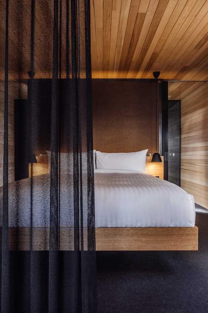 Valorize a iluminação ao redor da cama flutuante