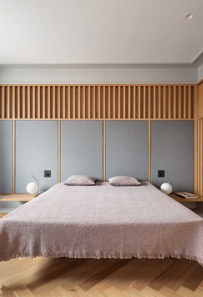 Capriche no visual da parede que irá receber a cama flutuante