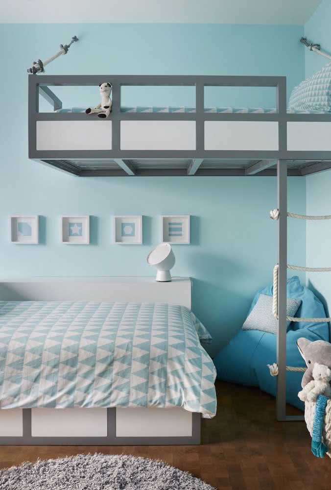 Ao invés das camas beliche tradicional, porque não investir em uma cama flutuante?