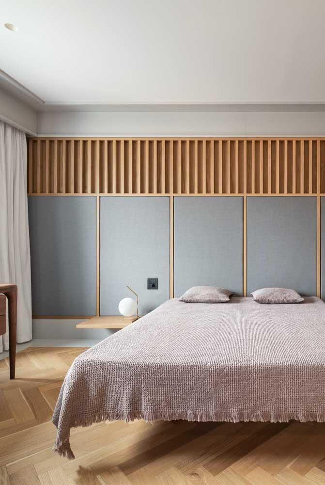 Cama flutuante de casal para um quarto moderno e elegante