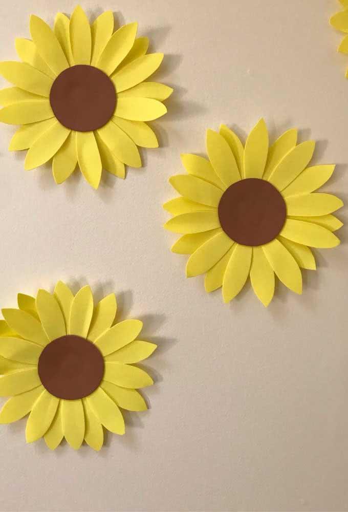 Flor de girassol de EVA simples e fácil de fazer