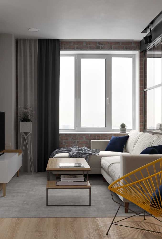 Sofá com chaise para sala pequena: um detalhe que agrega elegância e charme a decoração