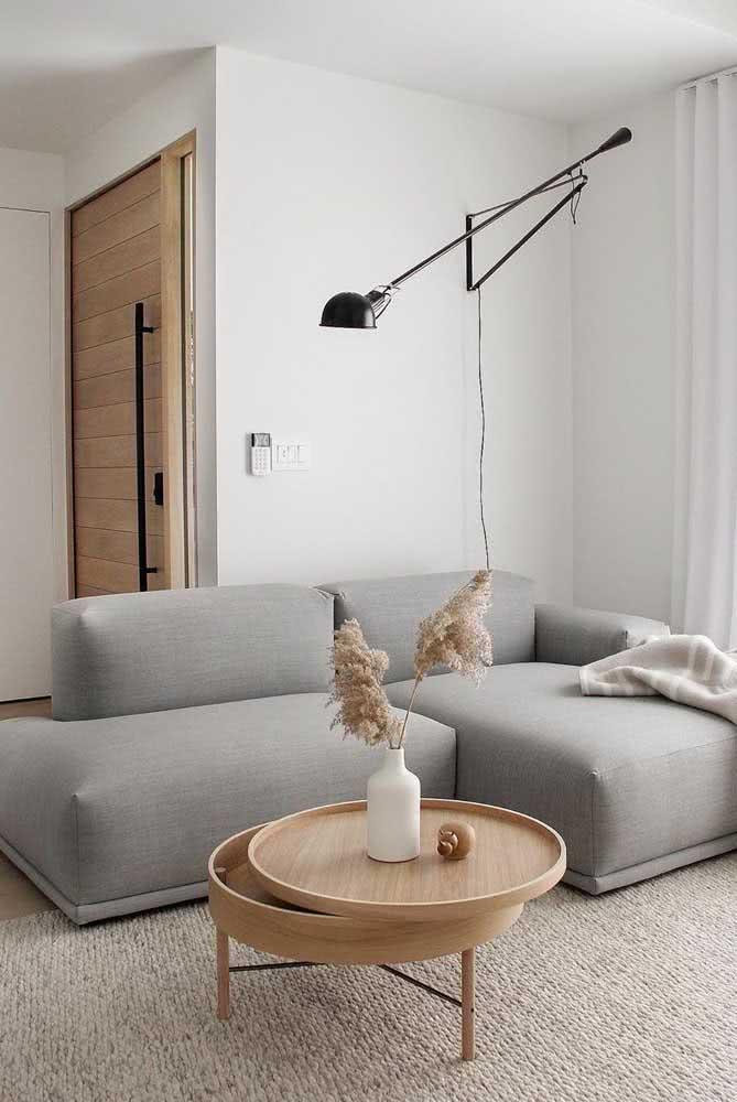 Sofá cinza retrátil para sala pequena: funcionalidade, conforto e estética no mesmo móvel