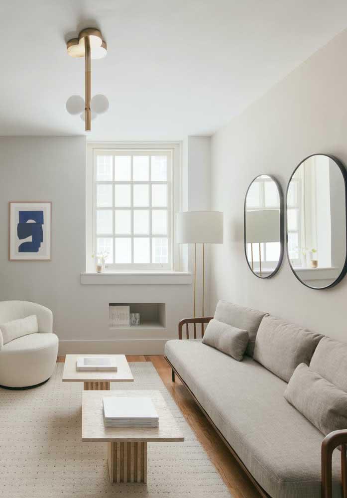 Quer um sofá com braços? Então aposte em um modelo de formato moderno e linhas retas