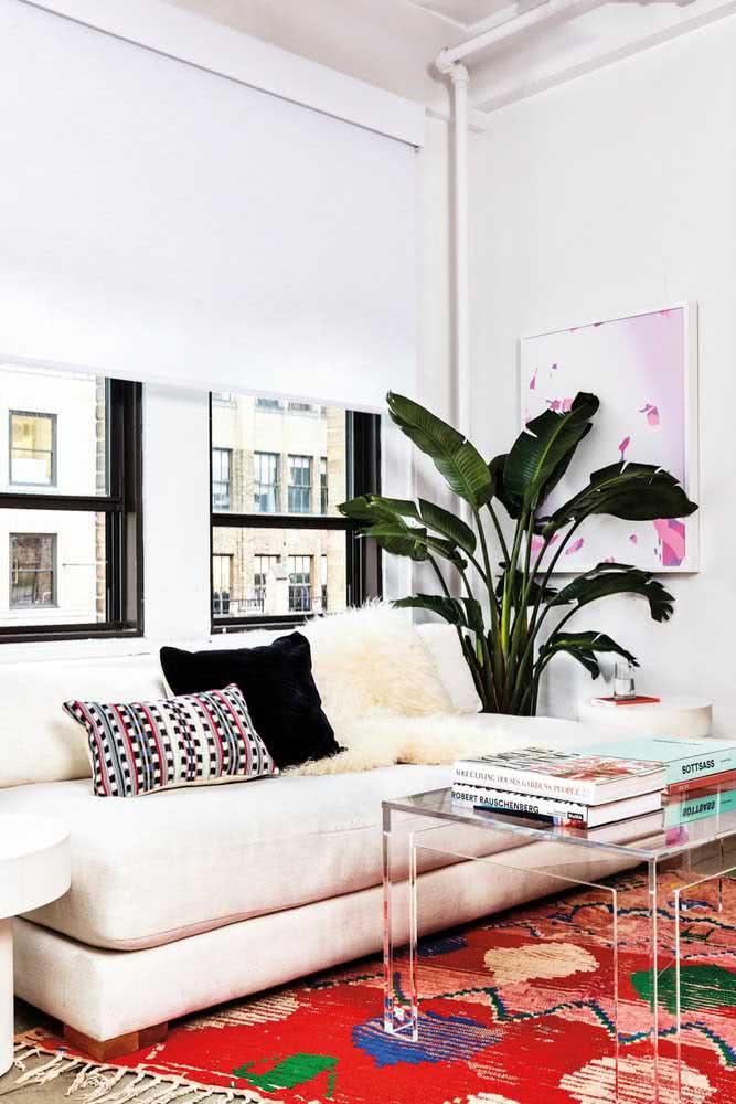 Sofá para sala pequena sem braços para aproveitar melhor o espaço