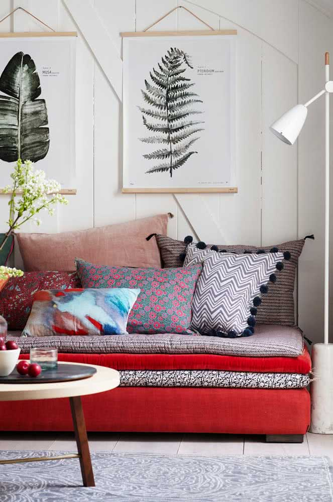 Sofá de futtons: despretensioso, moderno e cheio de personalidade