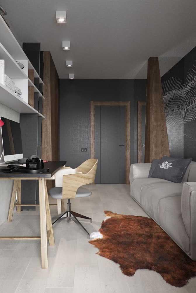 Cinza chumbo nas paredes: jeito fácil e prático de usar a cor