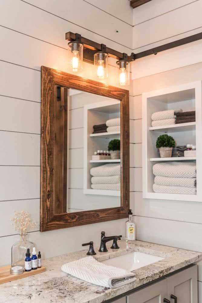 Seja qual for o estilo do seu banheiro, a bancada de granito sempre vai bem