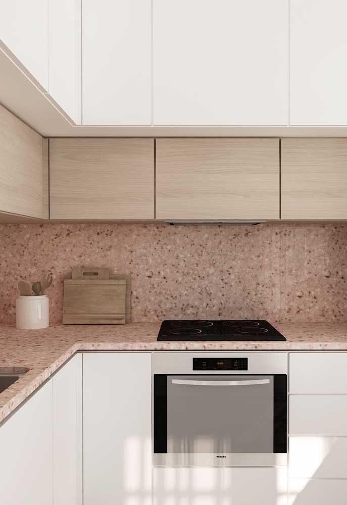 Bancada de granito com cooktop: projeto moderno e sofisticado