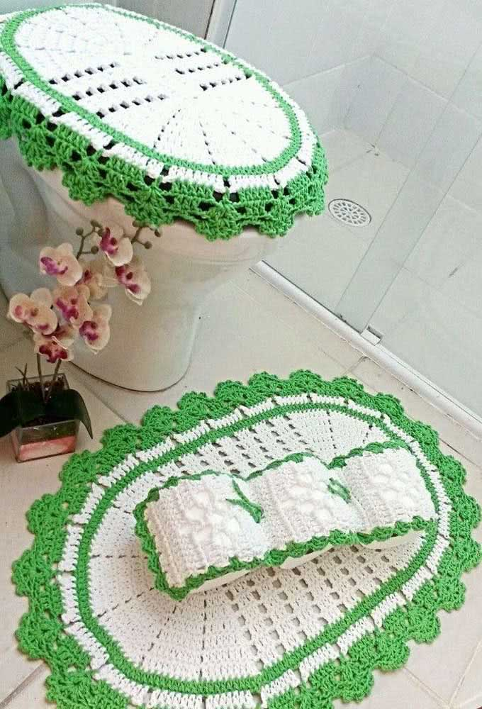 Em verde e branco!