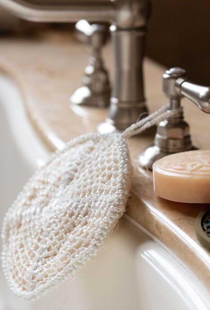 Disquinhos de crochê para limpar a pele