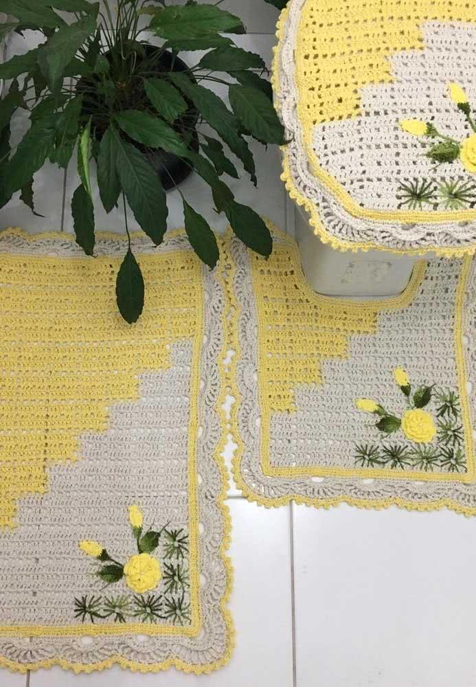 Amarelo e verde para combinar com a planta
