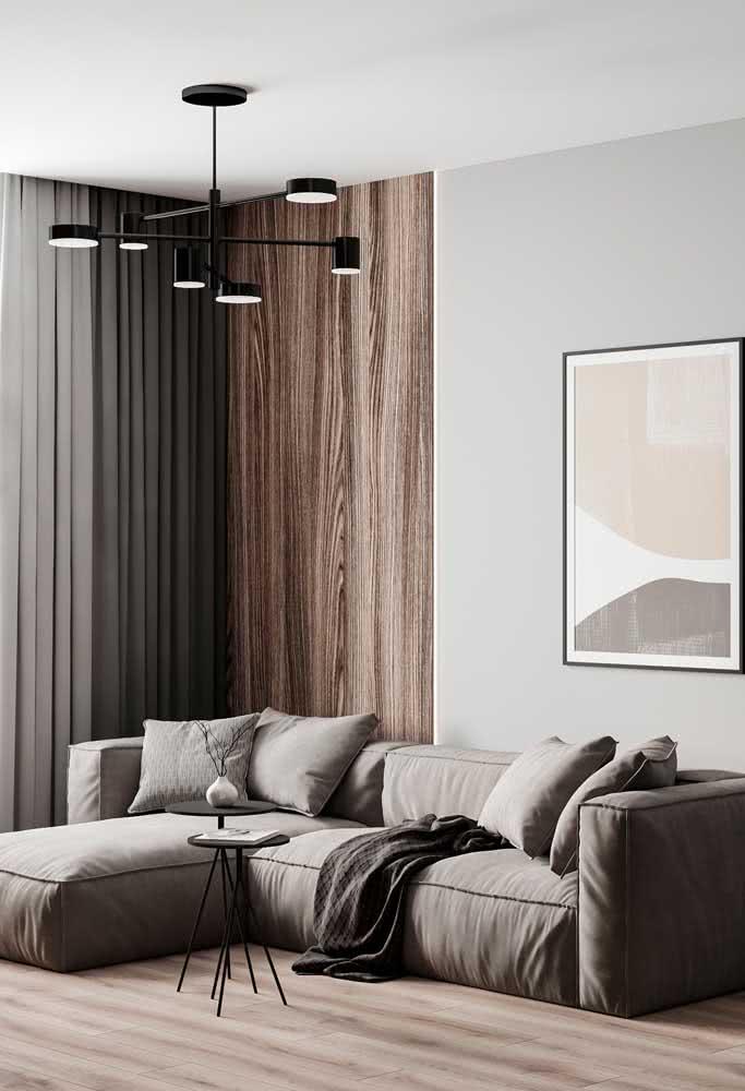 Lustre moderno preto para quem está em busca de uma decoração essencial