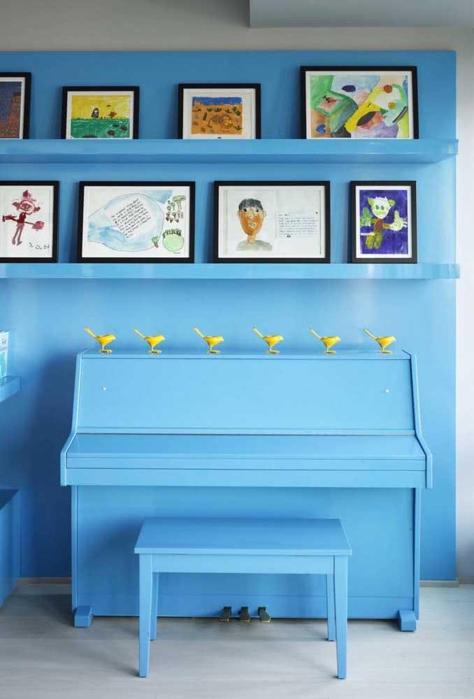 Quer pintar tudo de azul? No estilo boho você é quem manda!