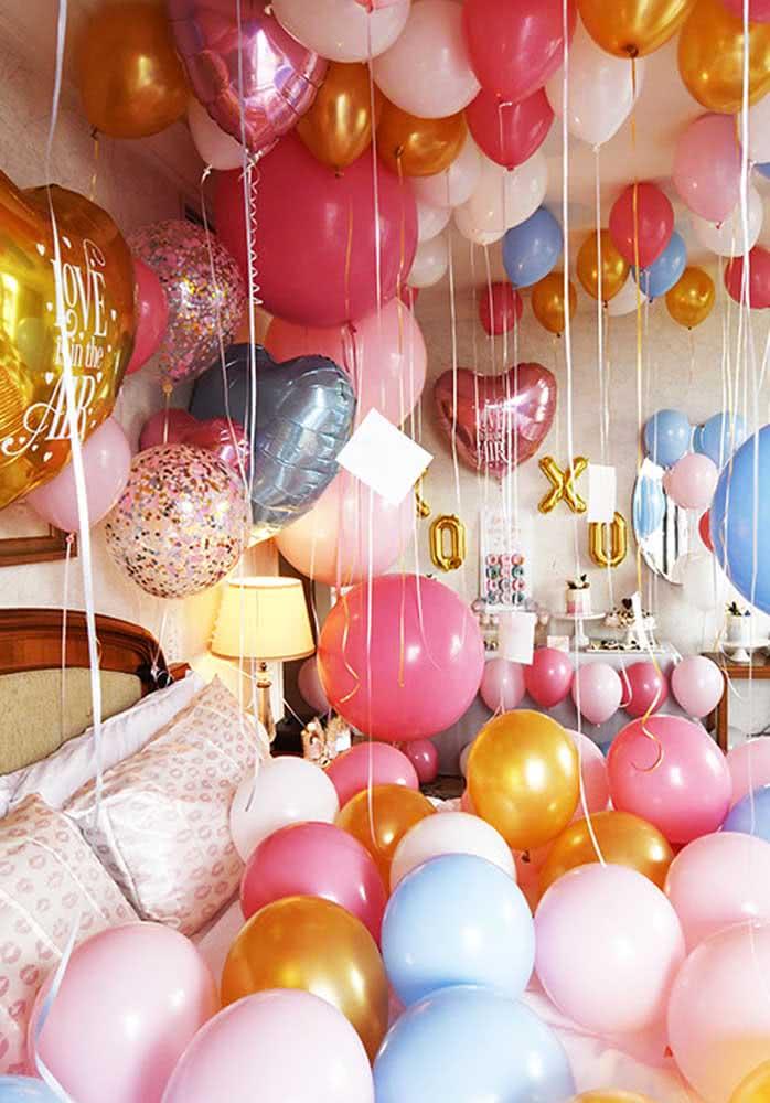 Balões, muitos balões!