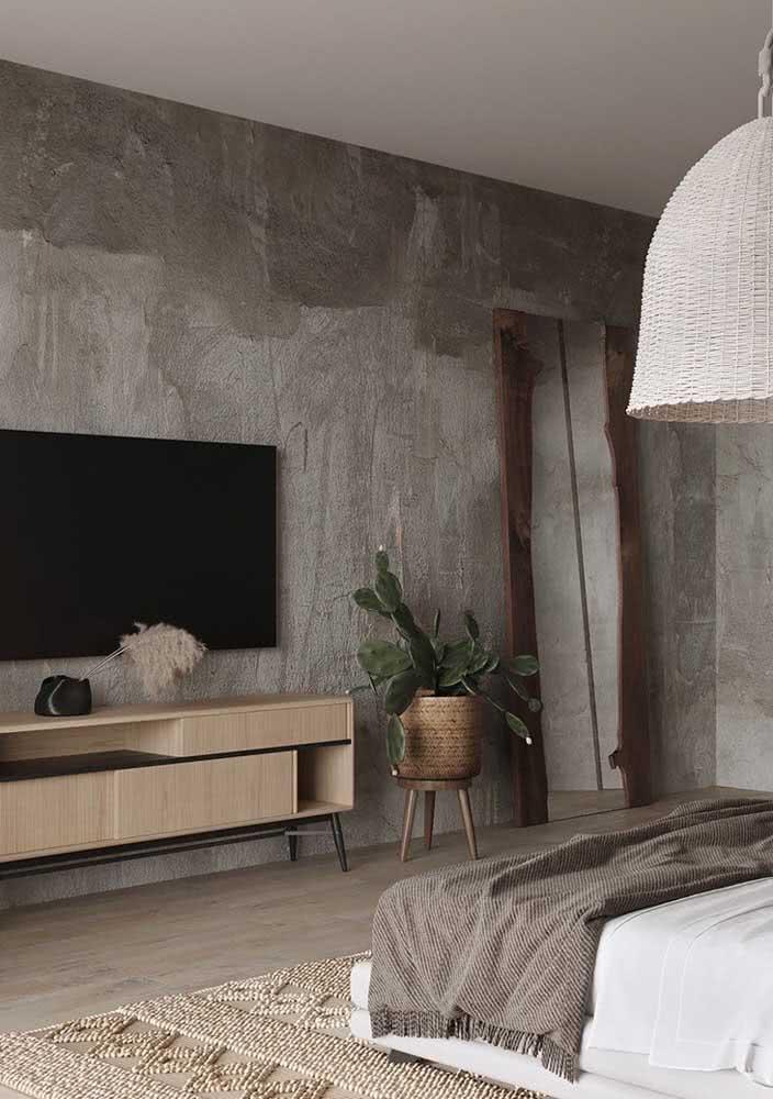 Parede com textura incrível para deixar o ambiente bem característico e diferenciado.