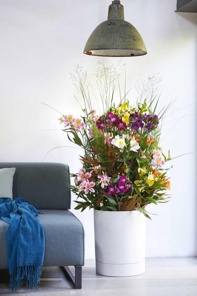 Um arranjo de flores grandioso, literalmente!