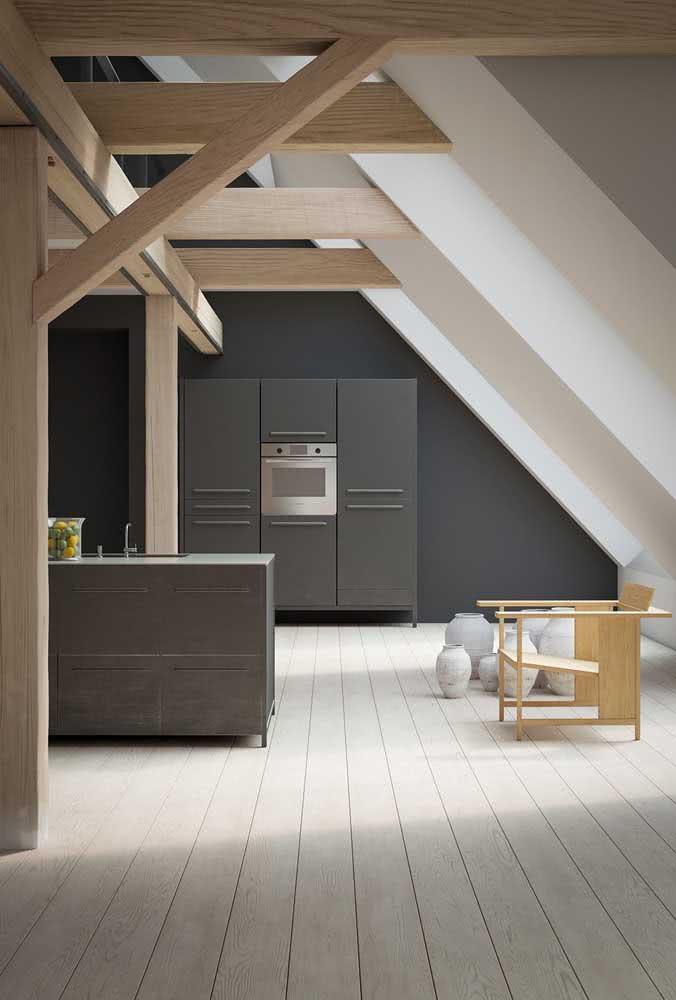 Sótão estilo loft: todos os ambientes integrados