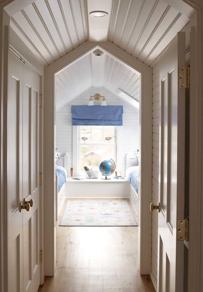 As crianças vão adorar a ideia de ter um quarto no sótão